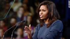 Michelle Obama denounces Trump for 'bragging about sexually ... CNN.com First lady Michelle Obama speaks during a campaign rally for Democratic presidential candidate Hillary Clinton Thursday...