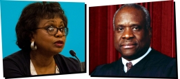 ONSTAGE+ - Goodman Theatre Carlyle_HillThomas_1330x590. Anita Hill and Clarence Thomas. With the spring, 1991 resignation of Supreme Court ...