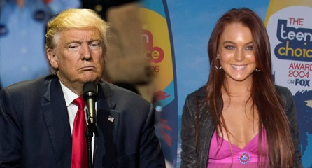 Donald Trump On A Then 18-Year-Old Lindsay Lohan: 'Deeply Troubled ... BroBible donald-trump-lindsay-lohan