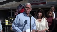 Pence visits firebombed Republican office in NC | WPFO WPFO Fox Mike Pence visits Republican Headquarters in Hillsborough, NC on Sunday, Oct. 16 2016. Someone threw flammable liquid inside a bottle through a window ...