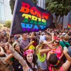 Gay Pride festival - Born this way rainbow flag