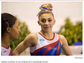 Ashton Locklear gymnastics