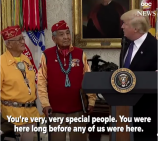 Trump saying Pocahontas to the Navajo Code Talkers...