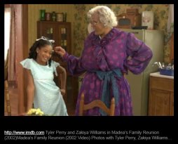 Tyler Perry and Zakiya Williams in Madea's Family Reunion