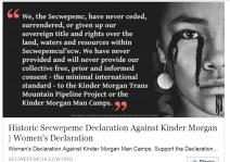 Women's Declaration Against Kinder Morgan Man Camps. Support the Declaration…