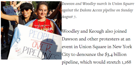 Shailene Woodley Rosario Dawson and North Dakota Native American children participate in the Stop The Dakota.2