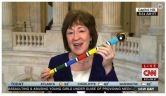 Collins tamped down on interruptions by asking everyone in the meetings to only speak when they were holding her decorative talking stick.