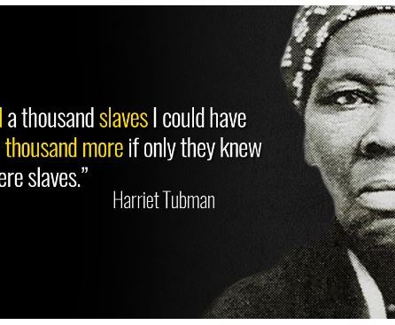 Hariet Tugman Freed Slavery