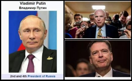Putin, James Comey, and John McCain