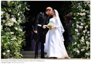 Meghan and Harry Wedding Kiss