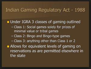 1988 Gaming regulatory act