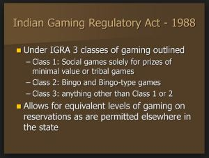 1988 Gaming regulatory act