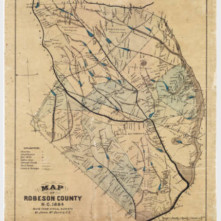1884 Robeson County Map