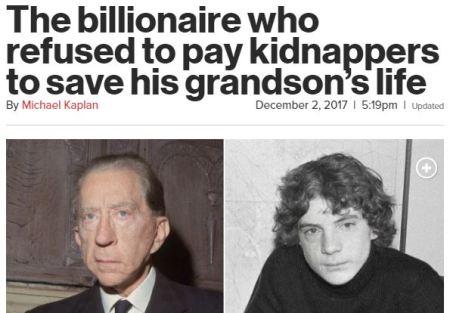 Billionaire didn't pay for grandson