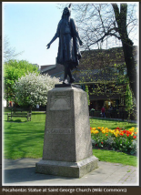 Pocahontas Statue in Gravesend