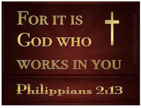 Philippians 2.13 KJV