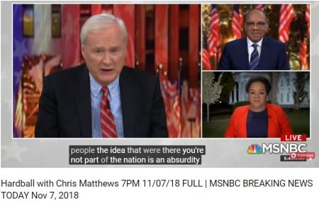 Chris Matthews said it best Black People have been on this continent longer than whites.5