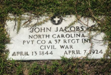 grandfather john jacobs pvt co a 37 regt inf civil war