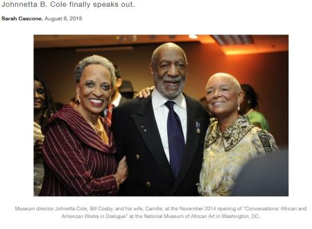 smithsonian director johnnetta b. cole defends decision to keep bill cosby show