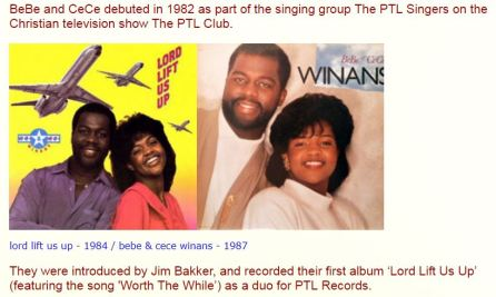 BeBe and CeCe Winans 1984 PTL
