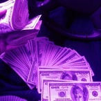 large purple money