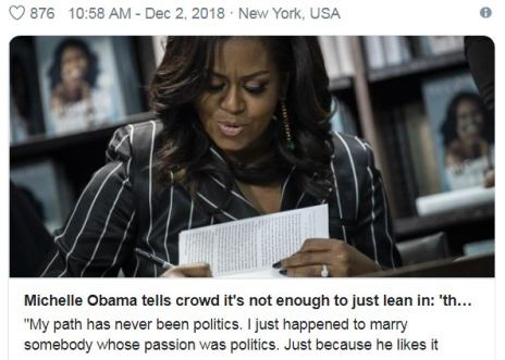 Michelle Obama Lean in