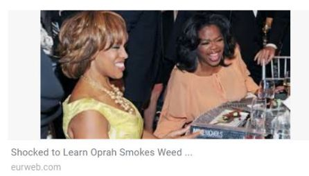 Oprah and Gayle smoking weed