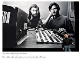 Steve Jobs and Apple co-founder Steve Wozniak