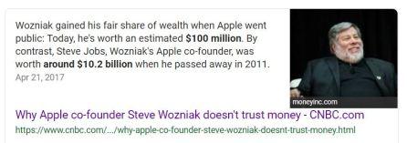 Steve Woznian Steve Jobs