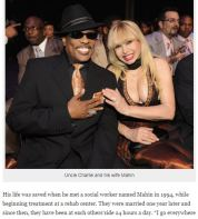 Charlie Wilson and his wife Mahn
