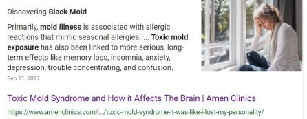 Black Toxic Mold Exposure cause Brain and Body Health problems