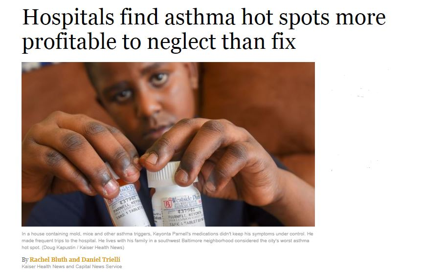 Hospitals find asthma hot spots more profitable to neglect than fix Black Mold Exposure