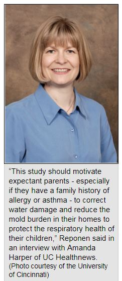 Tiina Reponen, Ph.D. Exit NIEHS, lead author on the study and a UC professor of environmental health Black Mold Asthma